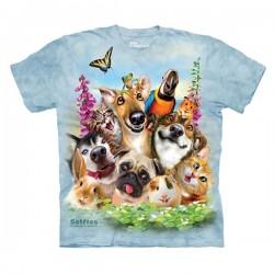 детская футболка с 3D принтом Pet Selfie