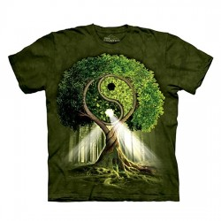 футболка с 3D принтом Yin Yang Tree