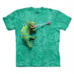 детская футболка с 3D принтом Chameleon