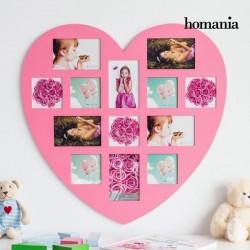 Südamekujuline pildiraam (roosa)