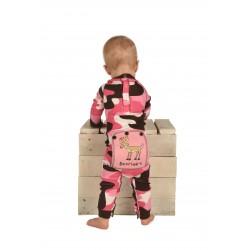 Домашний комбинезон для младенцев Flapjack Camo Pink