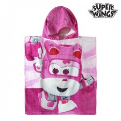 розовое Пончо-Полотенце с Капюшоном Super Wings