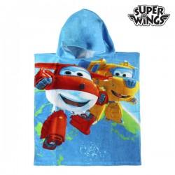 синее Пончо-Полотенце с Капюшоном Super Wings