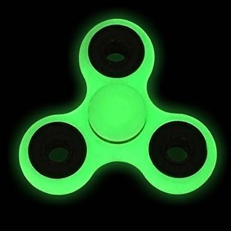 pimeds helendav näpuvurr - Fidget Spinner, roheline