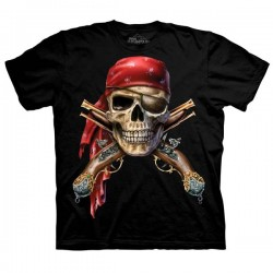 детская футболка с 3D принтом Skull & Muskets