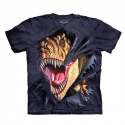 детская футболка с 3D принтом T-Rex Tearing