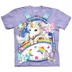 детская футболка с 3D принтом Backpack Unicorn