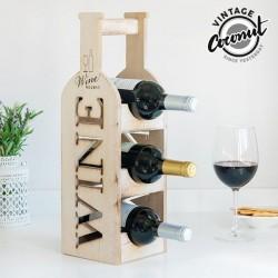 Деревянная Подставка для вина Бутылка
