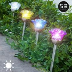Päikesepatareiga Valgusti Flower