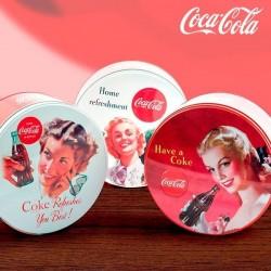 Vintage-Stiilis ümmargune Metallkarp Coca Cola