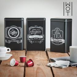 чёрные Кухонные Металлические Коробки (3шт)