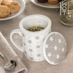 Кружка с крышкой и ситечком для чая