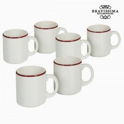 Kruuside Komplekt China White/Burgundy (6tk)
