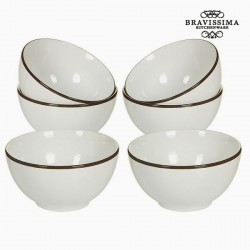 Kausside komplekt China White/Brown (6tk)