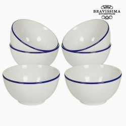 Kausside komplekt China White/Navy Blue (6tk)