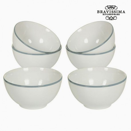 Kausside komplekt China White/Blue (6tk)