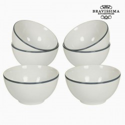 Kausside komplekt China White/Grey (6tk)
