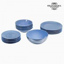 Комплект Голубых Тарелок China (19пред.)