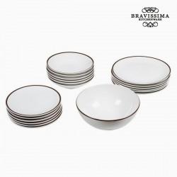 Комплект Тарелок China White/Brown (19пред.)
