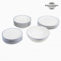 19-osaline Taldrikute Komplekt China White/Blue