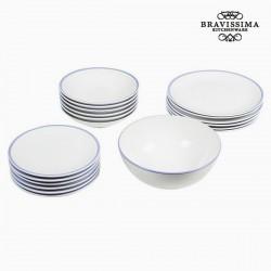 Комплект Тарелок China White/Blue (19пред.)