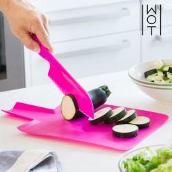 Гибкая Кухонная Доска с Ножом