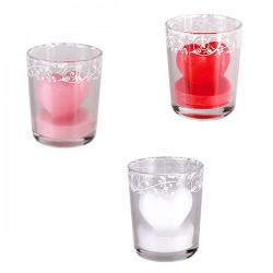Свеча Сердечко в стакане