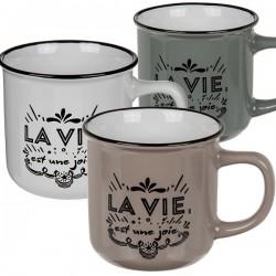 Керамическая Чашка в Ретро-стиле  La Vie
