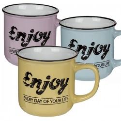 Керамическая Чашка в Ретро-стиле  Enjoy