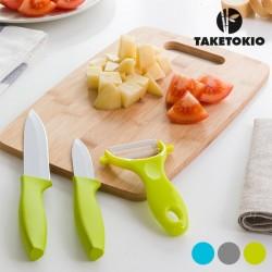 Керамические Ножи с Бамбуковой Доской