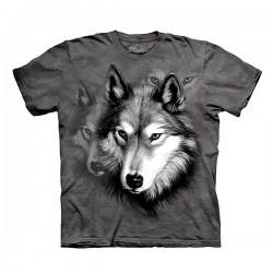 3D prindiga T-särk lastele Wolf Portrait