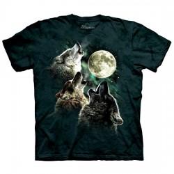 детская футболка с 3D принтом Три Волка