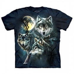 3D prindiga T-särk Moon Wolves