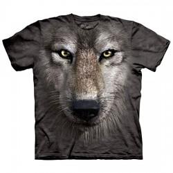 футболка с 3D принтом Волк