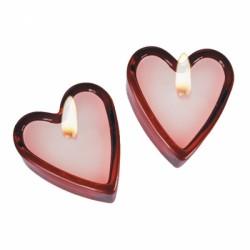 Ароматические свечи в виде сердца(2 шт)