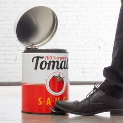Metallist Pedaaliga Prügikast Tomato