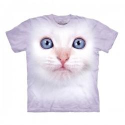 3D prindiga T-särk lastele White Kitten