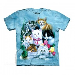 3D prindiga T-särk lastele Kittens