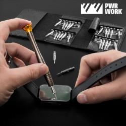 25-osaline Mini Kruvikeerajate Taskukomplekt PWR Work