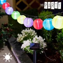 Päikesepatareiga Värvilised LED-tulekesed