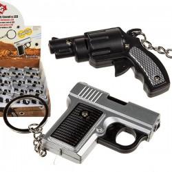 LED Брелок со Звуком - Пистолет