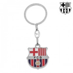 Серебряный Брелок для Ключей F.C. Barcelona