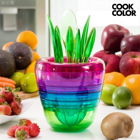 Köögi Komplekt Puuviljade Lõikamiseks Cook Color