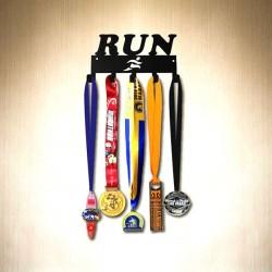 Металлическая Полка для Медалей Run