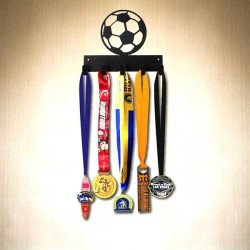 Металлическая Полка для Медалей Soccer