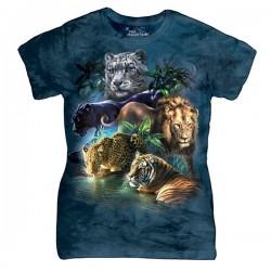 женская футболка с 3D принтом Big Jungle Cats