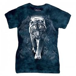 женская футболка с 3D принтом White Tiger Stalk