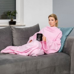 Тёплое Одеяло с Рукавами DELUXE, Розовое