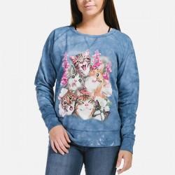 Naiste Dressipluus Selfie Cats