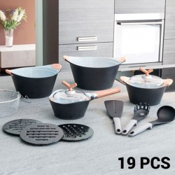 Набор Кухонной Посуды Black Premium (19 пред.)